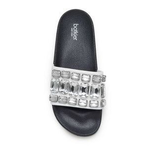 NEW WITH BOX BOTKIER FREDA SLIDE CRYSTAL SANDALS
